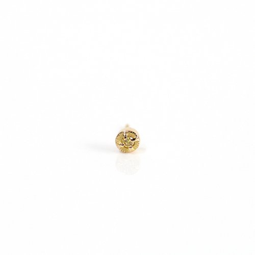 【廃番商品】hirondelle et pepin(イロンデールエペパン) / k18 hp-566-18s イエローダイヤ ピアス (片耳タイプ)