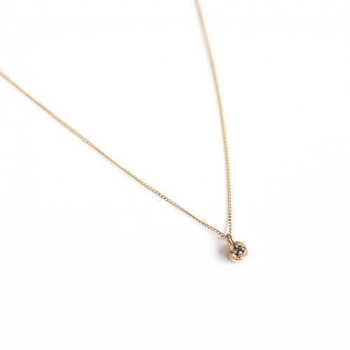 【廃番商品】hirondelle et pepin(イロンデールエペパン) / k18 hn-507-18s アレキサンドライト ネックレス