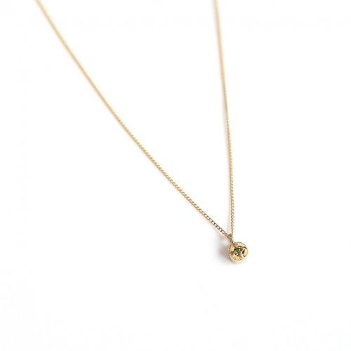 【廃番商品】hirondelle et pepin(イロンデールエペパン) / k18 hn-507-18s グリーンイエローダイヤ ネックレス