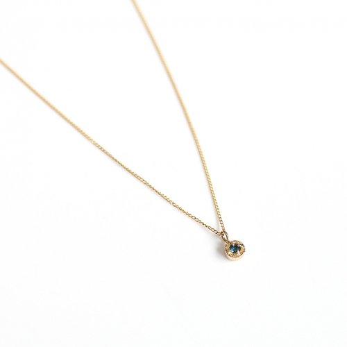 【廃番商品】hirondelle et pepin(イロンデールエペパン) / k18 hn-507-18s ブルーダイヤ ネックレス