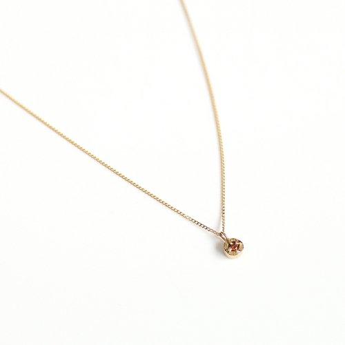 【廃番商品】hirondelle et pepin(イロンデールエペパン) / k18 hn-507-18s レッドダイヤ ネックレス