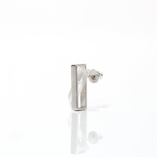 revie objects(レヴィオブジェクツ) / IN2-02 〈INSIDE〉 Quartz Earring M インサイド クォーツピアス M (片方タイプ)