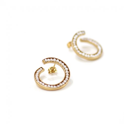 revie objects / 旧 Rice revie objects/ 旧 Rice/ RO2-03 ●pearl earring twist マルパールツイスト ピアス