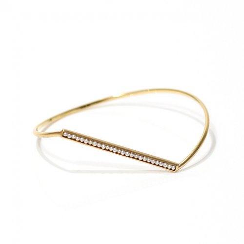 revie objects / AN4-03 〈ANALYEZE〉 ●Dotted line bangle GLD (pearl)  アナライズ ドットライン バングル - ゴールド (パール)