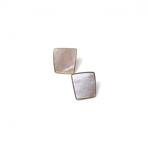 SIRISIRI / RA303 RADEN Earrings Square 螺鈿ピアス スクエア