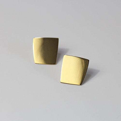 SIRISIRI / RA304 RADEN Earrings Square GD 螺鈿ピアス スクエア - ゴールド