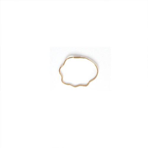 hirondelle et pepin(イロンデールエペパン) / k18 hp-18fw-575 フープピアス ウェーブ / M (片耳タイプ)