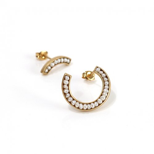 revie objects(レヴィオブジェクツ) / RO2-02 ●pearl earrings 1/4 マルパール ピアス