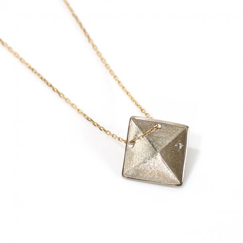 revie objects / 旧 Rice revie objects/ 旧 Rice/ PY3-03〈PYRAMID〉■necklace ピラミッド シカクネックレス