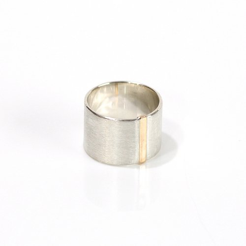 revie objects / 旧 Rice revie objects/ 旧 Rice/ SI1-11〈SIDE〉straight line ring サイド ストレートライン ワイドリング