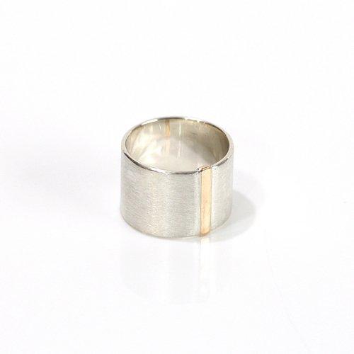 revie objects(レヴィオブジェクツ) / SI1-11 〈SIDE〉 straight line ring サイド ストレートライン ワイドリング