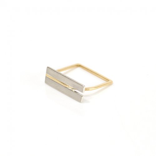 revie objects(レヴィオブジェクツ) / ZI1-01 ■zipper ring シカク ジッパーリング