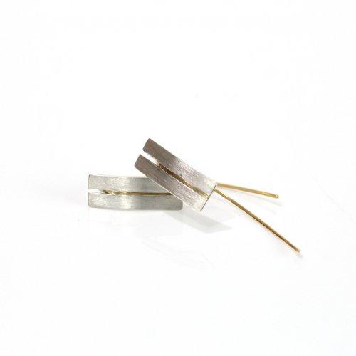 revie objects(レヴィオブジェクツ) / ZI2-01 ■zipper earrings シカク ジッパーピアス
