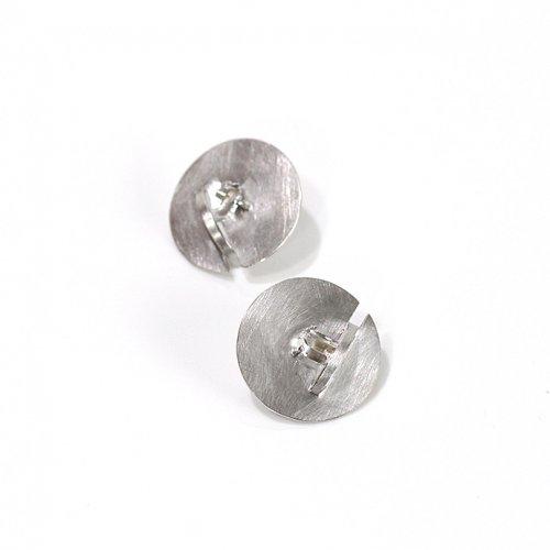 revie objects(レヴィオブジェクツ) / ZI2-02 ●zipper earrings Quartz マル ジッパーピアス - クォーツ