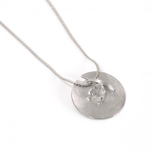 revie objects(レヴィオブジェクツ) / ZI3-01 ●zipper necklace Quartz マル ジッパー ロングネックレス - クォーツ