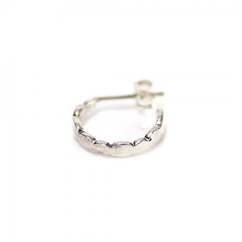 Perche?(ペルケ) / silver gradation oval シルバー フープピアス