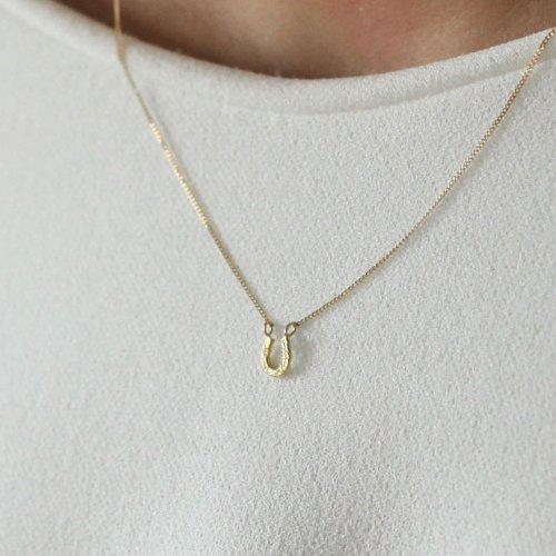 hirondelle et pepin(イロンデールエペパン) / k18 hn-19ss-521 ホースシュー ネックレス