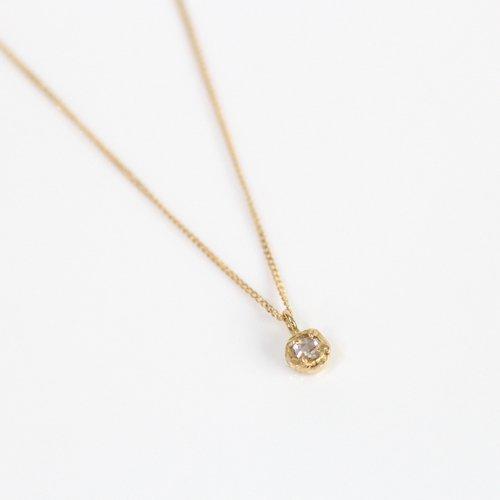【廃番商品】hirondelle et pepin(イロンデールエペパン) / k18 hn-19ss-522 4つ爪 ローズカットダイヤ ネックレス