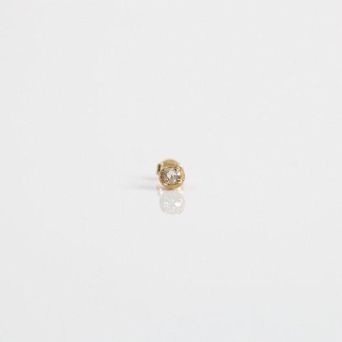 【廃番商品】hirondelle et pepin(イロンデールエペパン) / k18 hp-19ss-610 4つ爪 ローズカットダイヤ ピアス (片耳タイプ)