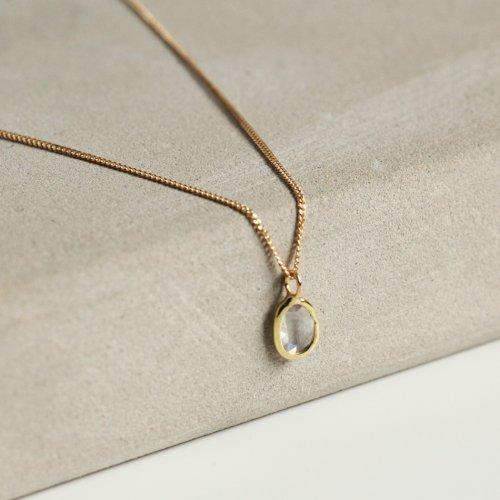 hirondelle et pepin(イロンデールエペパン) / k18 hn-19ss-525 マルチ ローズカットダイヤ ネックレス