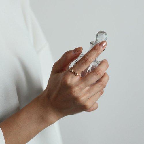 【廃番商品】hirondelle et pepin(イロンデールエペパン) / k18 hr-19ss-542 マルチ ローズカットダイヤ リング 3