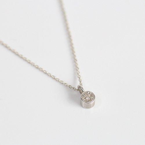 【廃番商品】hirondelle et pepin(イロンデールエペパン) / silver sn-19ss-15 シルバー 星留めダイヤ ネックレス