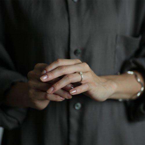 【廃番商品】hirondelle et pepin(イロンデールエペパン) / silver sr-19ss-29 シルバー 星留めダイヤ リング