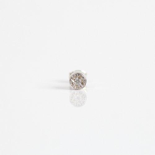 【廃番商品】hirondelle et pepin(イロンデールエペパン) / silver sp-19ss-17 シルバー 星留めダイヤ ピアス (片耳タイプ)