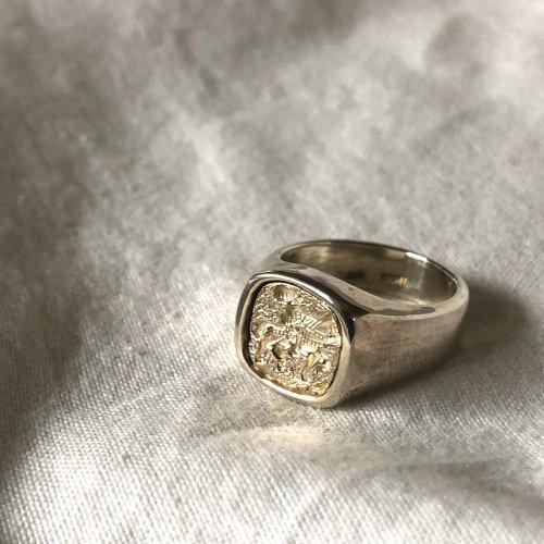 hirondelle et pepin(イロンデールエペパン) / silver sr-19ss-38 シルバー インタリオ ワイドリング 2
