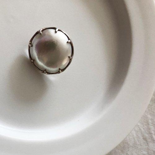 hirondelle et pepin(イロンデールエペパン) / silver sp-19ss-18 シルバー マベパール ピアス (片耳タイプ)
