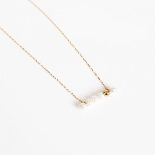 MINIMUMNUTS(ミニマムナッツ) / k18 MN-ndot001 dot gold パール ネックレス