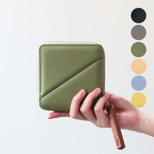Ense(アンサ) / zipper wallet レザー ラウンドファスナー 二つ折り ウォレット ew125 - 全5色