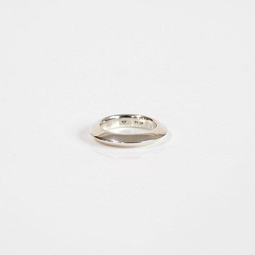 UNKNOWN. / silver925 U012 SLOPE リング L - シルバー
