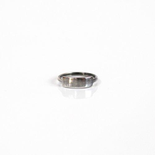 UNKNOWN. / silver925 U018 I.D リング - ブラック