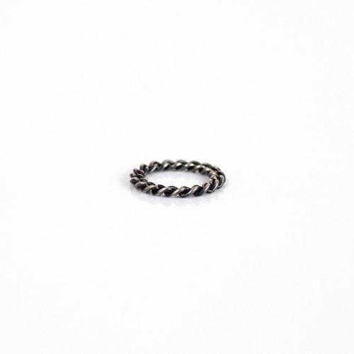 UNKNOWN. / silver925 U030 CHAIN リング S - ブラック