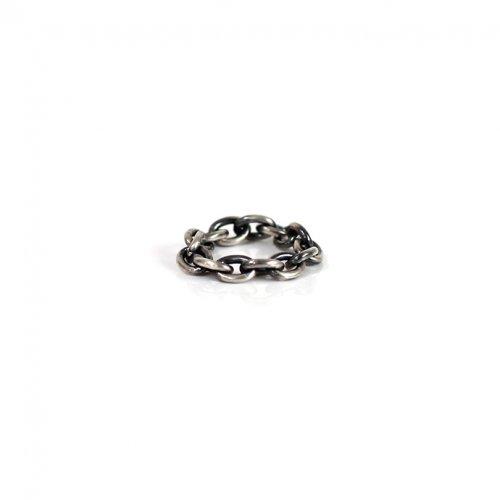 UNKNOWN. / silver925 U038 CHAIN2 リング M - ブラック