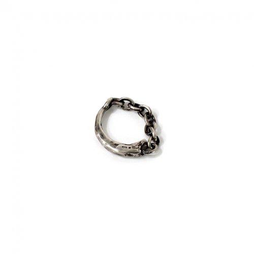 UNKNOWN. / silver925 U045 FUNG リング - ブラック