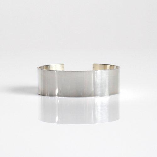 UNKNOWN. / silver950 U219 FLAT バングル 20mm - シルバー