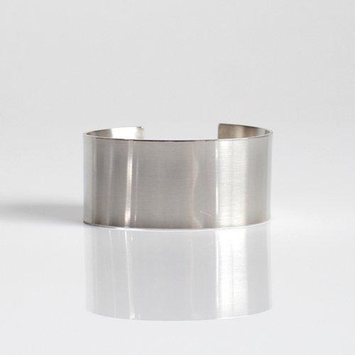 UNKNOWN. / silver950 U220 FLAT バングル 30mm - シルバー