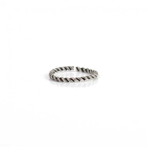 UNKNOWN. / silver925 U509 TWIST リング S / ブラック HIGH QUALITY LINE
