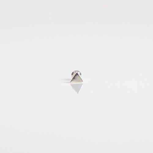 UNKNOWN. / silver925 U314 TRIANGLE ピアス - シルバー (片耳タイプ)