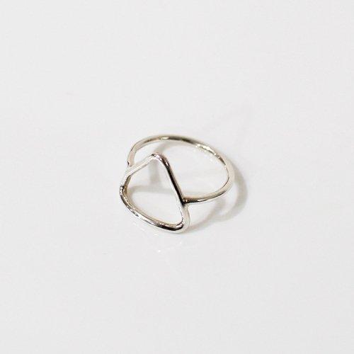 UNKNOWN. / silver925 U518 THIN TRIANGLE リング - シルバー