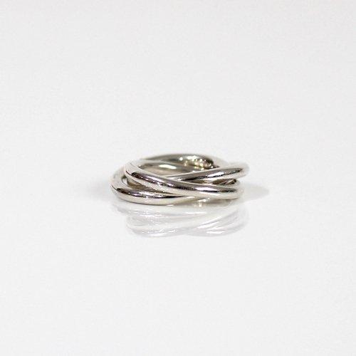 UNKNOWN. / silver925 U524 TRIPLE リング M - シルバー HIGH QUALITY LINE