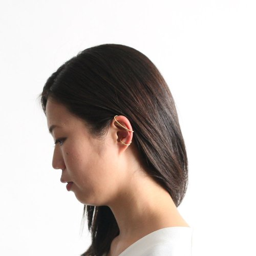 revie objects(レヴィオブジェクツ) / LI2-10 〈LINKING〉 wind ear cuff GLD ウインドイヤーカフ - ゴールド (左耳タイプ)