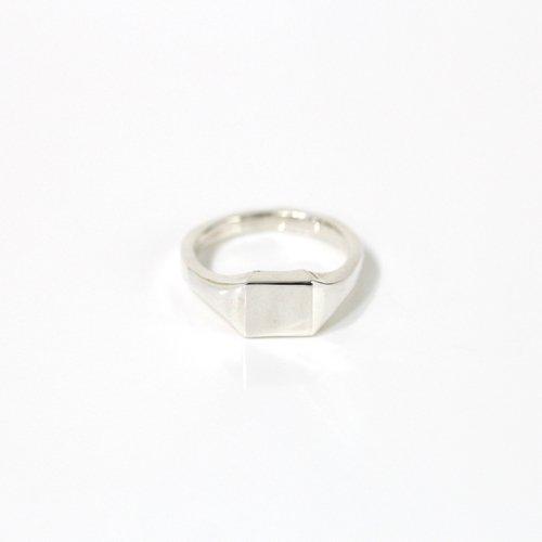 hirondelle et pepin(イロンデールエペパン) / silver sr-19fw-44 シルバー スクエアシグネットリング