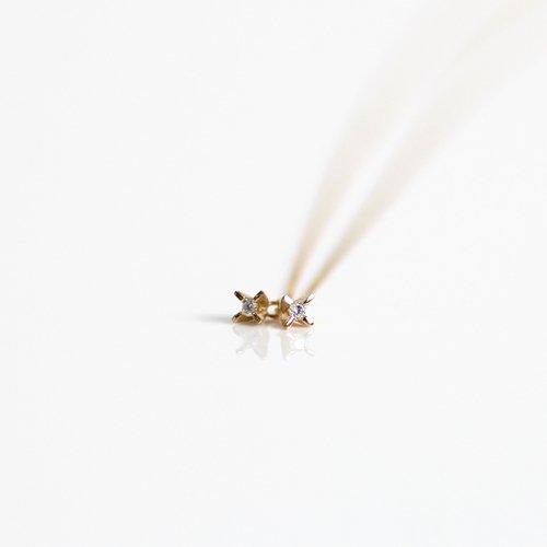 hirondelle et pepin(イロンデールエペパン) / k18 hn-19fw-530 2ピース ミニ立て爪 ネックレス /ダイヤ / ルビー / サファイヤ / エメラルド