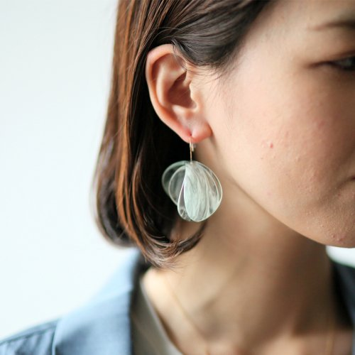 SIRI SIRI(シリシリ) EC301 EXCAVATION Single Earring Anthos JADE CLEAR / エクスカヴェイション ピアス(片方タイプ)<img class='new_mark_img2' src='//img.shop-pro.jp/img/new/icons7.gif' style='border:none;display:inline;margin:0px;padding:0px;width:auto;' />