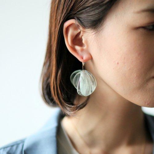 SIRISIRI / EC301 EXCAVATION Single Earring Anthos JADE CLEAR エクスカヴェイション ピアス (片耳タイプ)