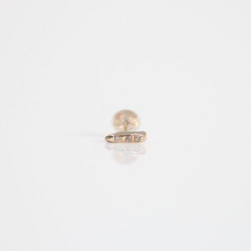 MIKU FUKAMITSU(ミク フカミツ) / 湖畔のピアス (DIA) / ダイヤ3石 / (ゴールド / k10) (片方タイプ)