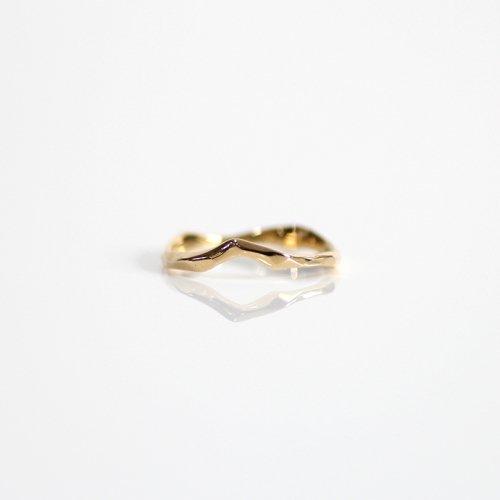 MIKU FUKAMITSU(ミク フカミツ) / 覆う樹皮02 / リング / (ゴールド / k18)